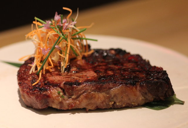 Roka Akor Steak and Garnish