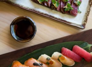 sushi date night plates